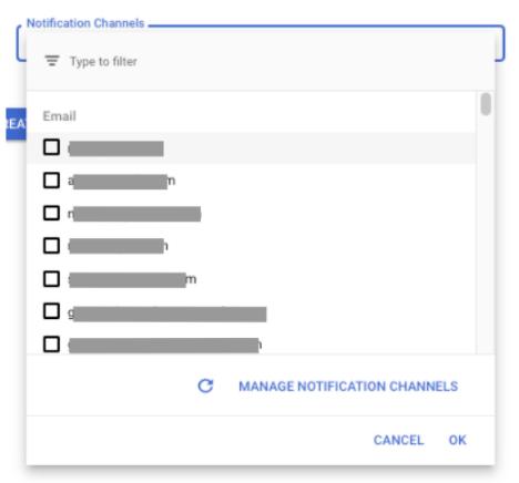 notification channels